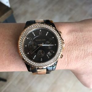 Michael Kors Two-Toned Tortoise Watch. Michael Kor
